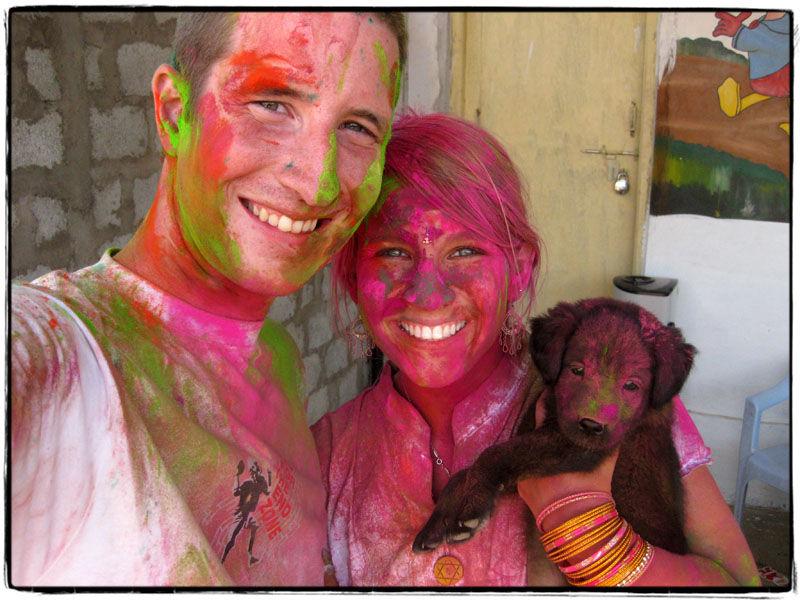 Scott, Kristen, and Taj after 6kg's of color