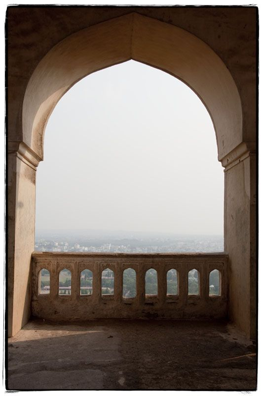 The city of Hyderabad from Golconda Fort