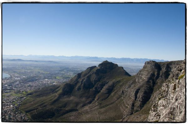 A view of Cape Town from the top of Table Mountain