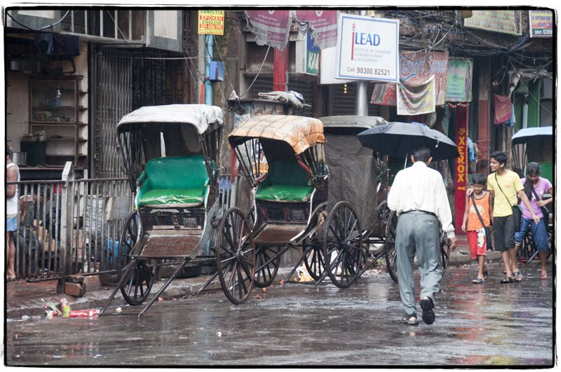 A rainy day in Kolkata