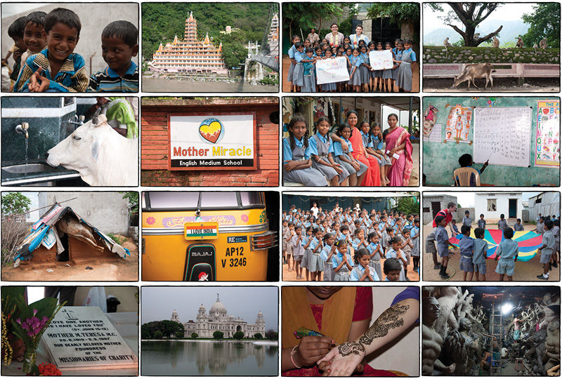 An assortment of photos from August 2010 in India