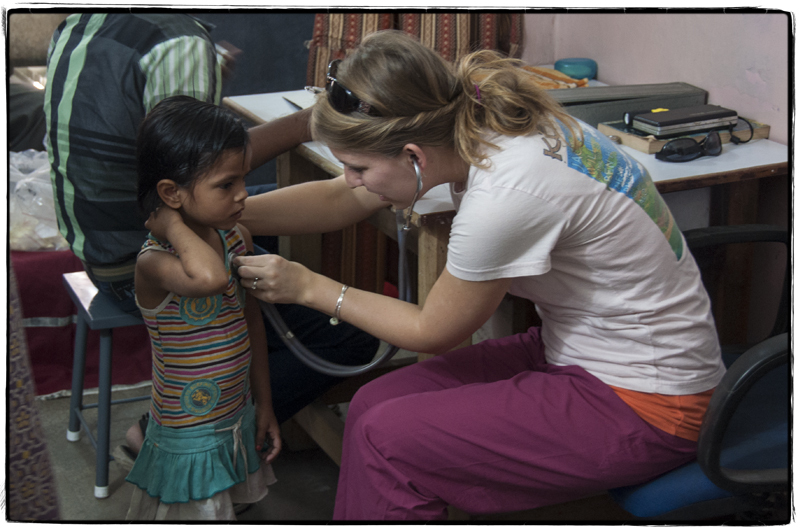 One of the many children we helped at the clinic