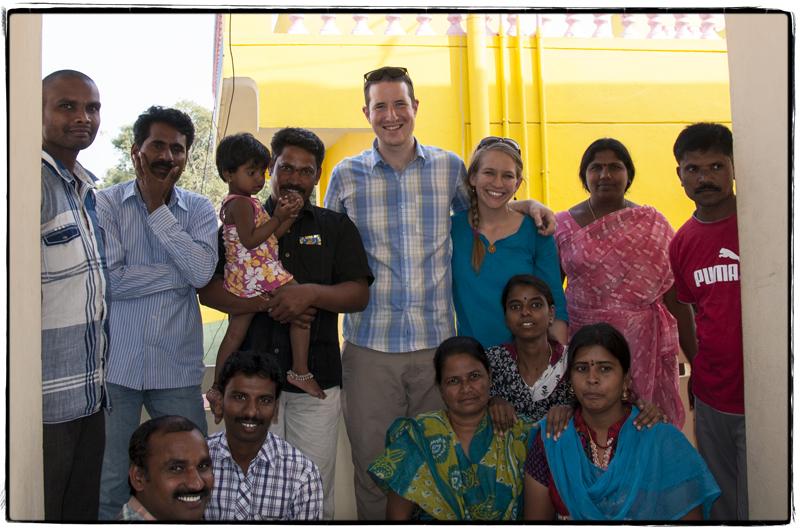 Enjoying biryani with our good friends in India