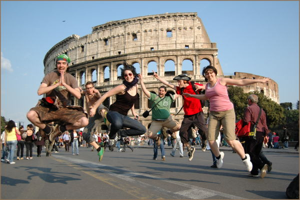 Blazing ground in Roma