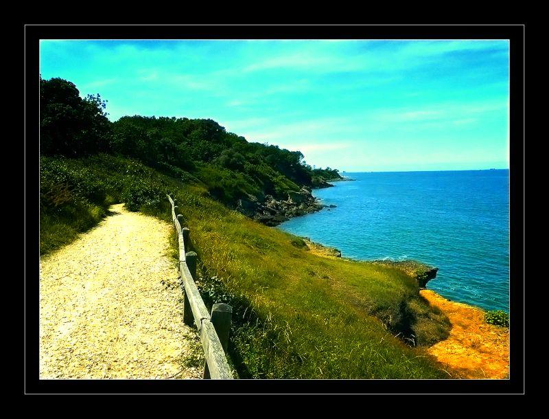 Chemin bord de mer en Bretagne