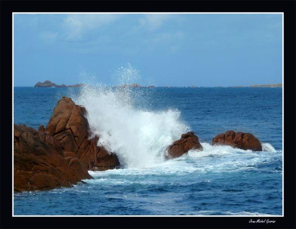 Mer agitee paysage bretagne cote d'armor