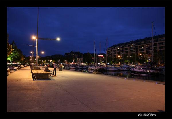 Caen Normandie : Port de nuit
