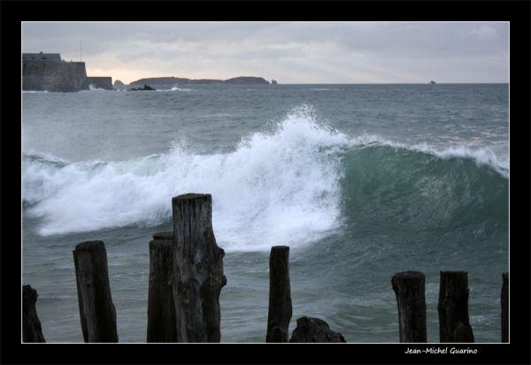Saint Malo Bretagne France Mer Vagues