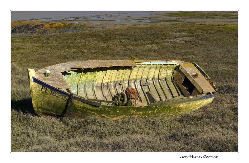 Barque a marée basse