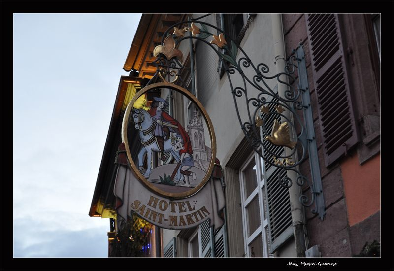 Colmar Alsace France enseigne hotel Saint Martin