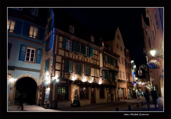 Colmar Alsace France photo de nuit