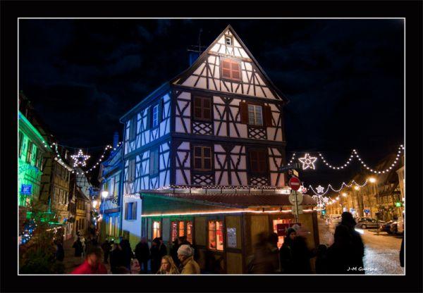 Riquewihr Alsace France photo nuit