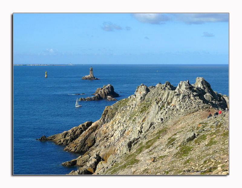 Pointe du Raz Finistere Bretagne mer sein phare