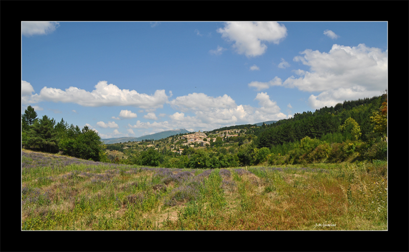 Provence Lavande Village paysage