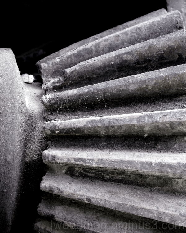 Bevel gear on a locomotive in Griffith Park.