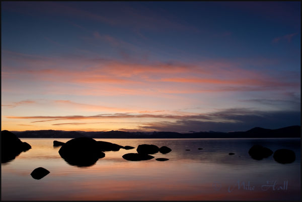 Lake Tahoe Sunset from the Eastern Shore
