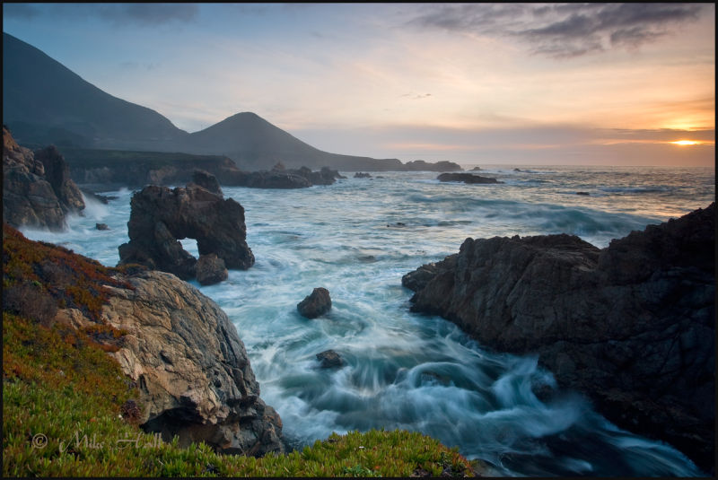 California Big Sur Coastal Sunset at Garrapata