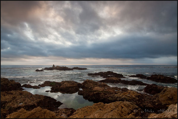 Winter storm clouds along the Big Sur Coast