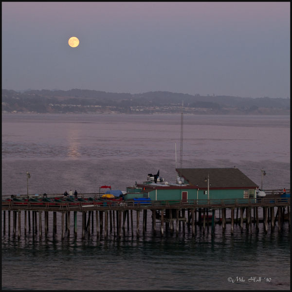 Full Moon Rising over the Capitola Wharf