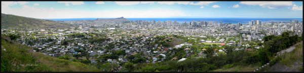 View of Honolulu, Oahu