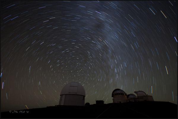 Nighttime view from Mauna Kea, Hawaii