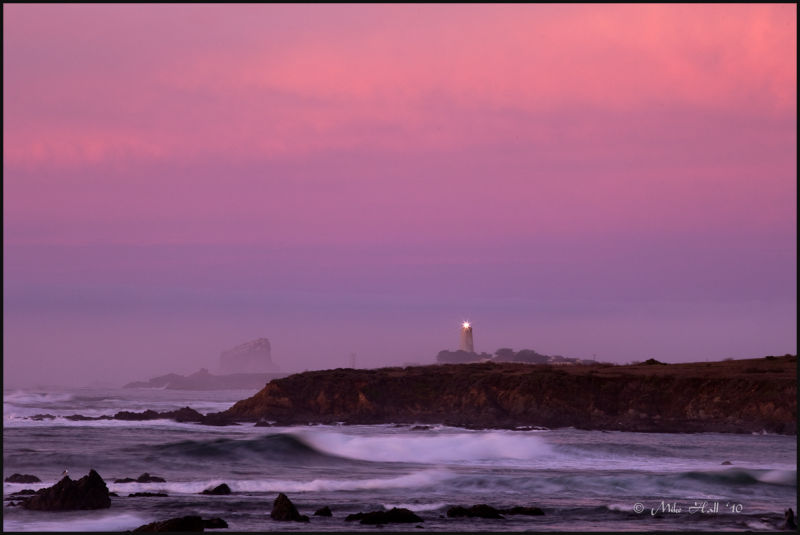 Piedras Blancas Lighthouse at sunrise