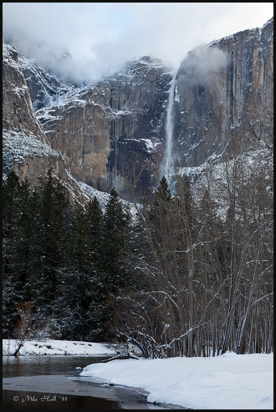 Upper Yosemite Falls Winter Afternoon