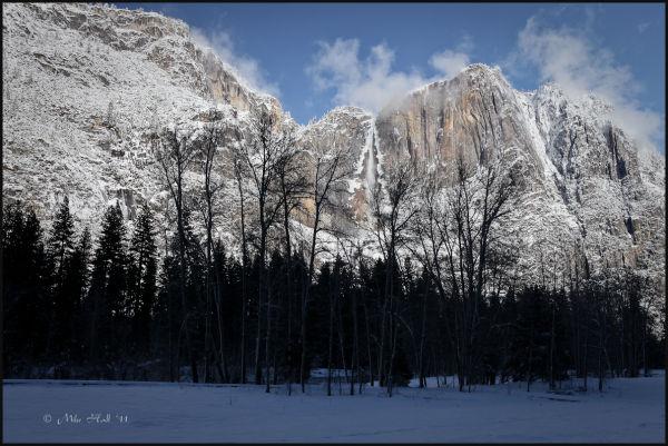 Yosemite Falls in the Winter