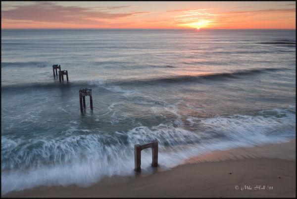 Davenport piers at sunset