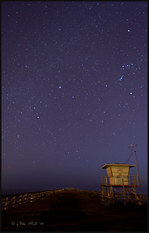 Starry spring night at Seacliff State Beach