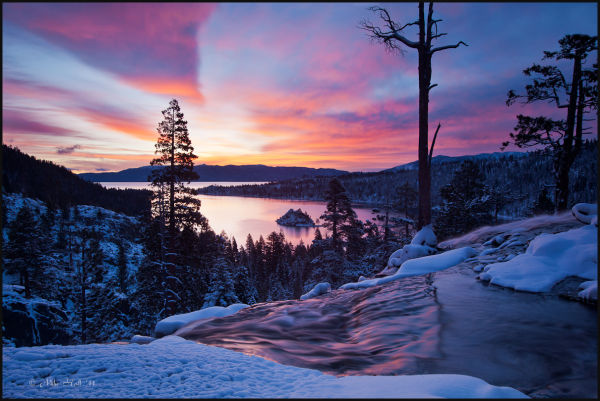 Dawn over Emerald Bay, Lake Tahoe