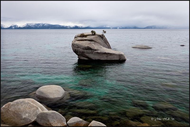 Spring Storm View of Bonsai Rock, Lake Tahoe