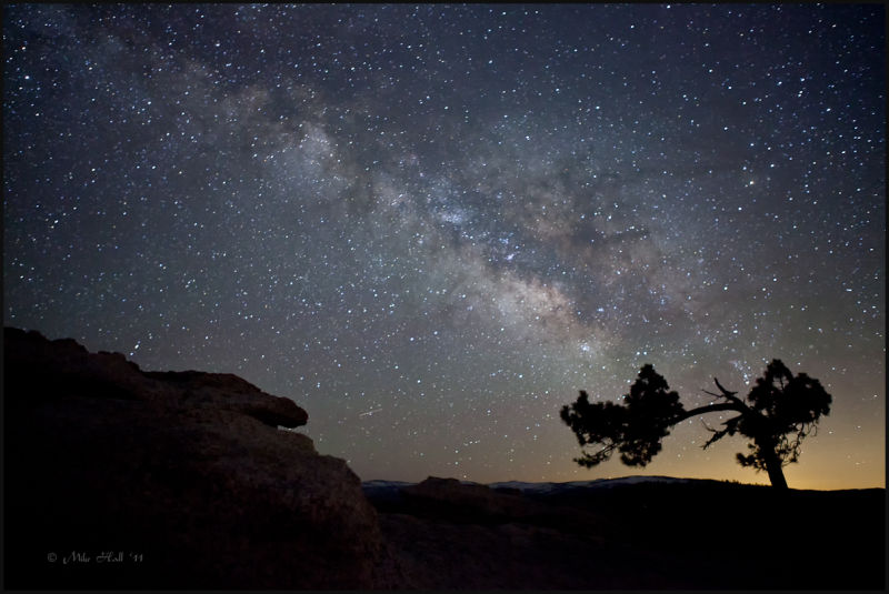Southern view of the Milky Way from Sentinel Dome