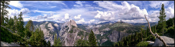 A Panoramic view from Glacier Point