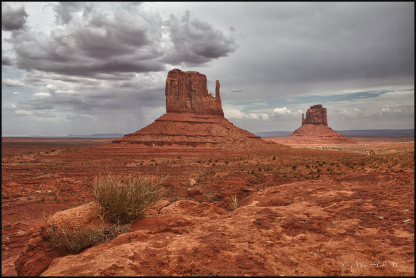 The Mittens in Monument Valley, AZ