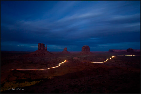 Monument Valley Buttes at twilight