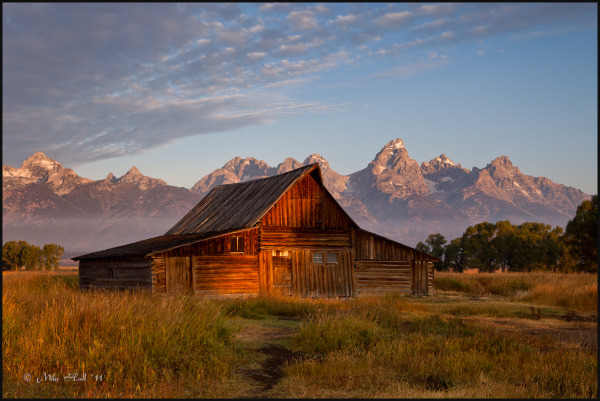 Sunrise at the T.A. Moulton Barn on Mormon Row
