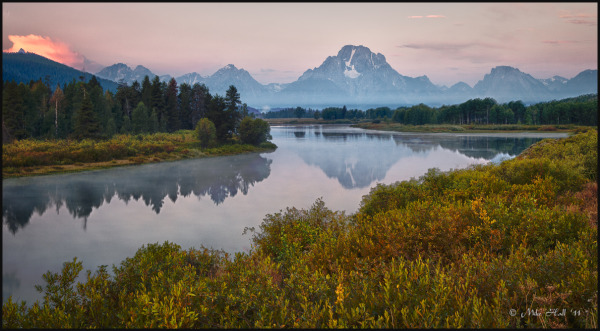 Morning at Oxbow Bend, Grand Tetons National Park