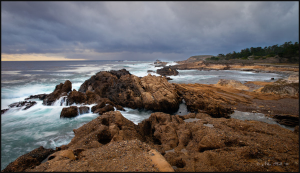 Approaching storm in Point Lobos on the CA coast