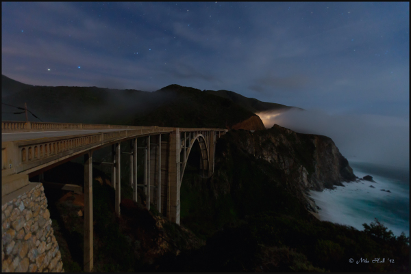 Bixby Bridge at Night