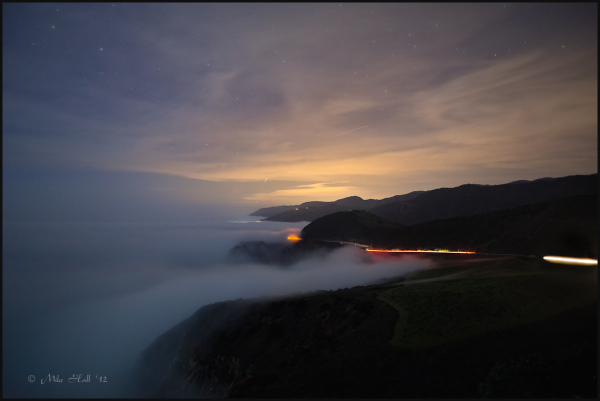Big Sur Coastline in the evening fog