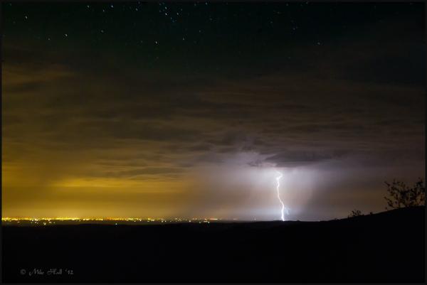 Summer lightning storm
