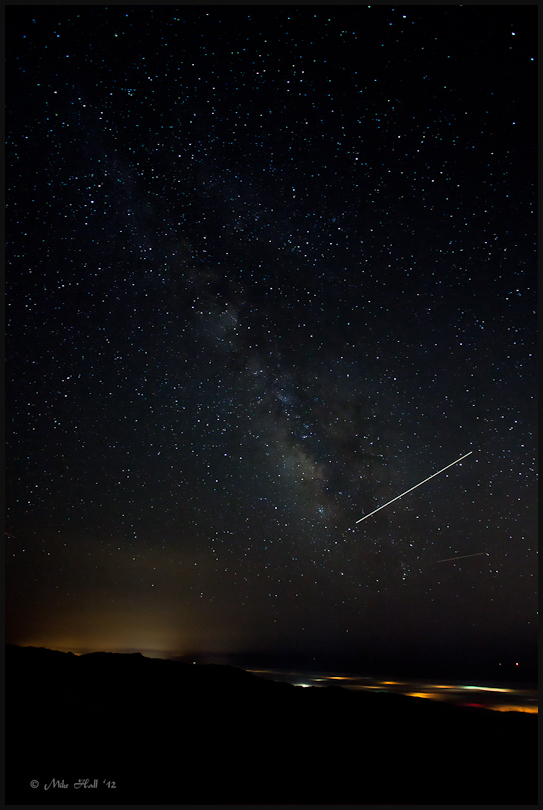 Perseids over the Salinas Valley