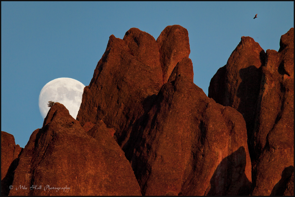 Moonrise at Pinnacles National Monument