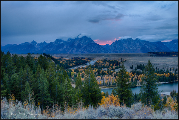 Sunset view of the Teton Range