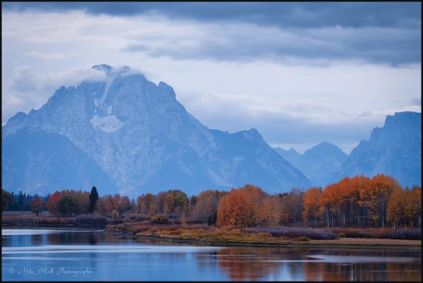 Oxbow Bend fall color, Grand Teton National Park