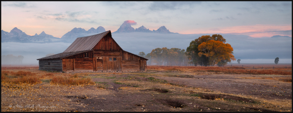 Sunrise at the T.A. Moulton Barn, Wyoming