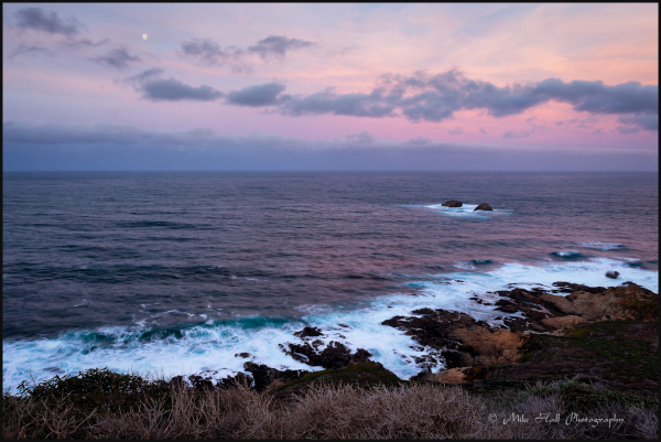 California Big Sur Coast Moonset