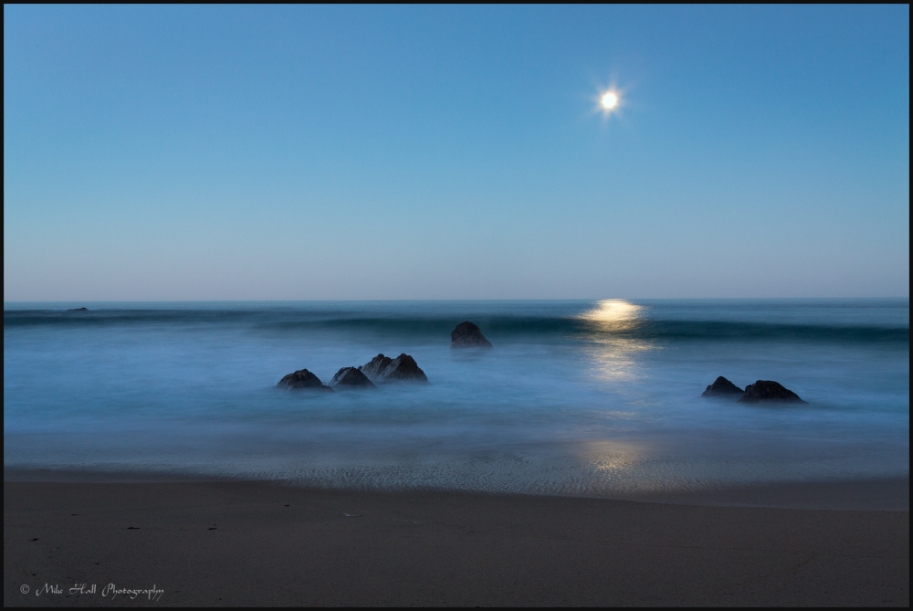Moonset over the Monterey Bay