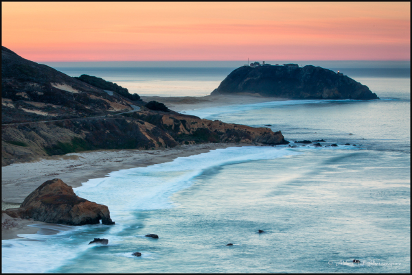 Point Sur Light Station at dawn